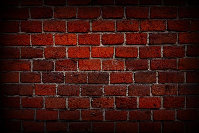 红砖墙壁特写镜头,纹理,背景,难看的东西 图库摄影