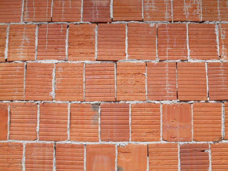 红砖墙壁纹理,老砖墙,背景细节  免版税库存照片