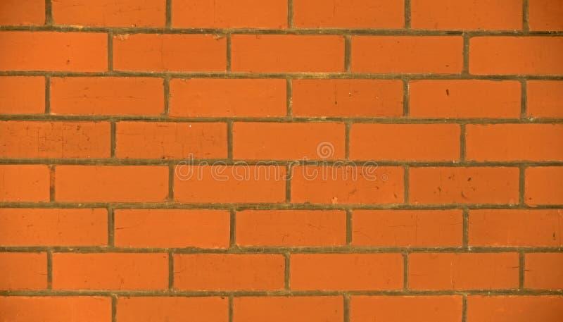 红砖墙壁织地不很细背景 库存照片