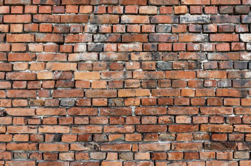 红砖墙纹 室内设计与装饰用的空旧格朗格砖 复古背景或壁纸 库存照片