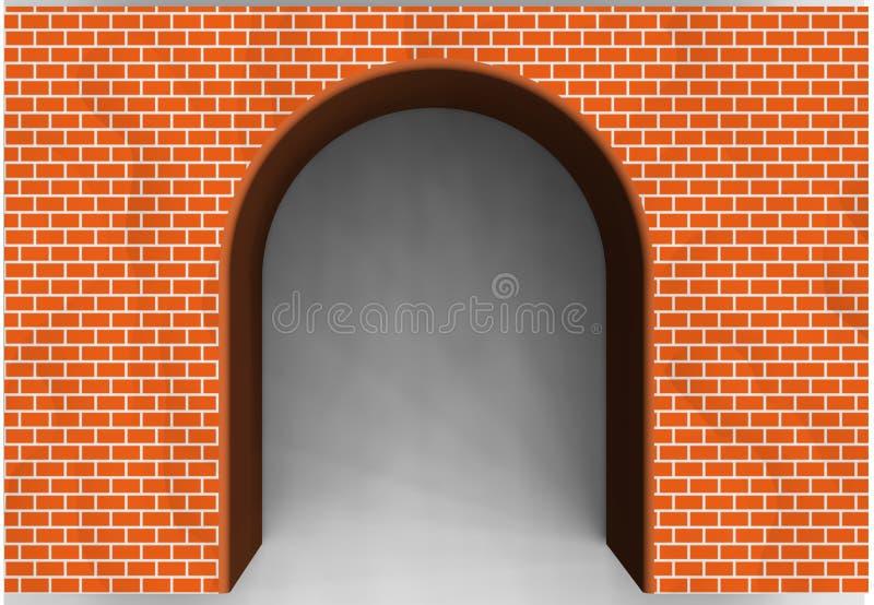 红砖拱道 库存例证