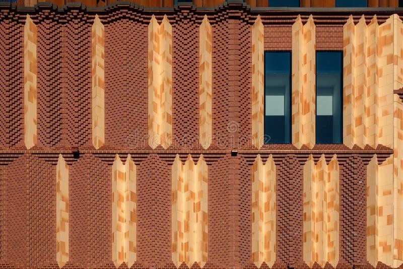 红砖设计门面 免版税库存照片