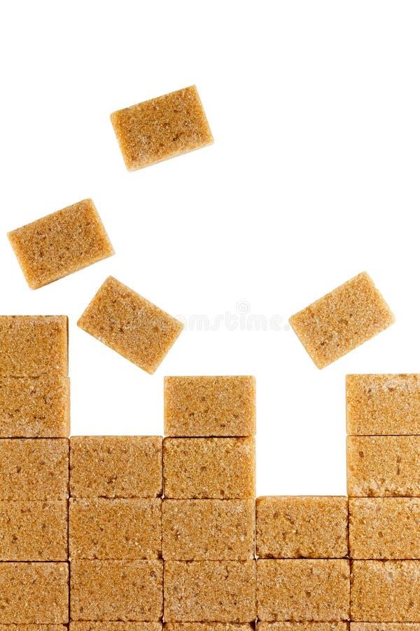 红糖立方体 免版税图库摄影