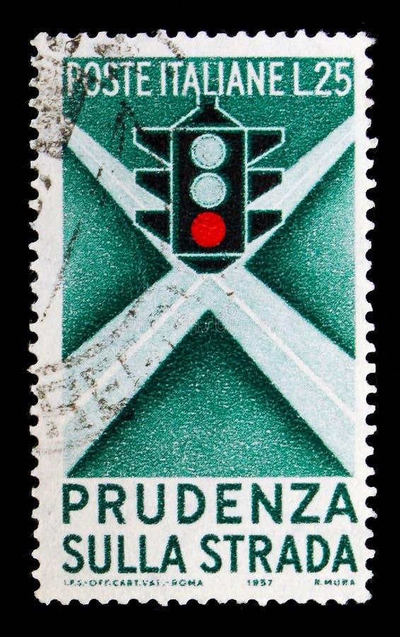 红绿灯和交叉点,公路安全教育活动s 免版税库存图片