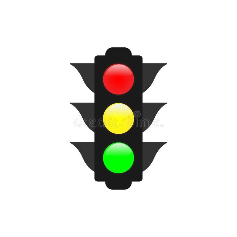 红绿灯图形设计元素传染媒介例证 向量例证