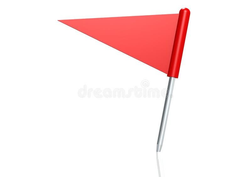 红色三角标志针 向量例证