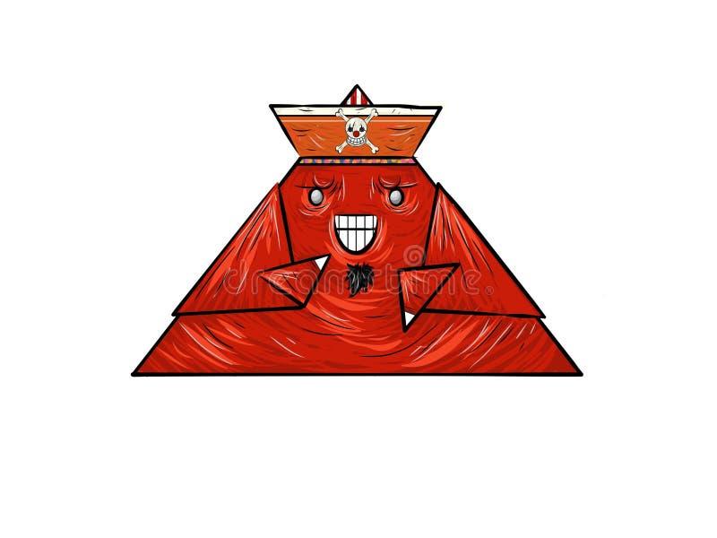 红色三角海盗 库存图片