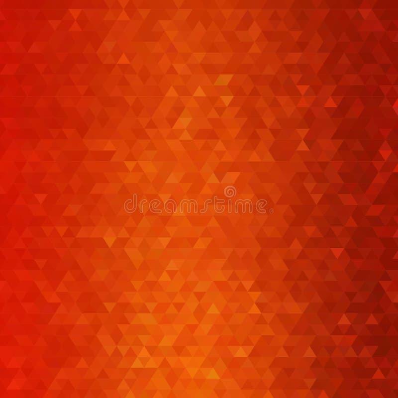 红色三角背景 E 企业介绍的模板 10 eps 向量例证