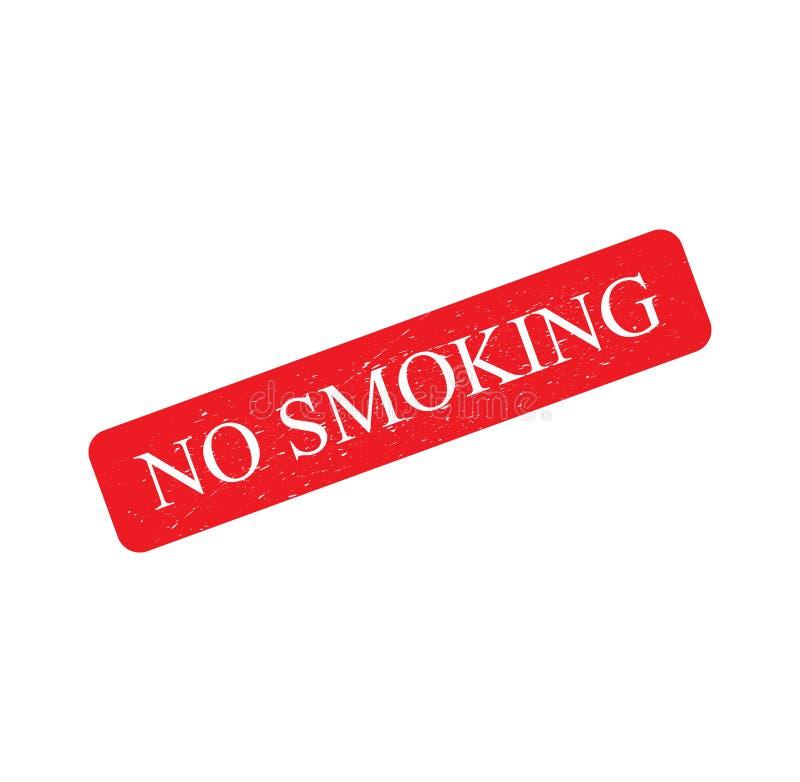 红色不加考虑表赞同的人,文本标志难看的东西作用,禁烟隔绝在白色背景 向量例证