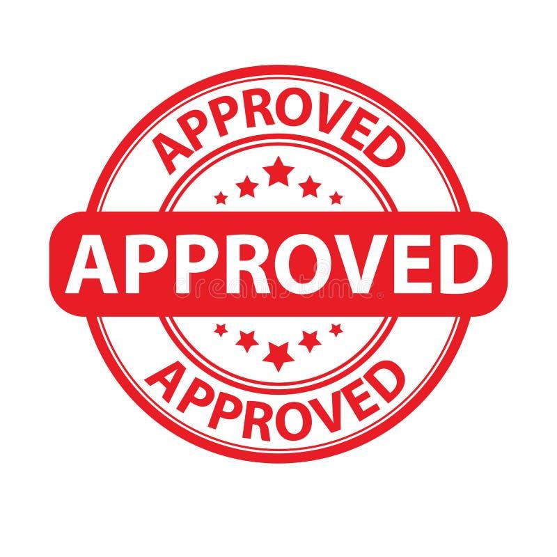 红色与星的回合批准的邮票 皇族释放例证