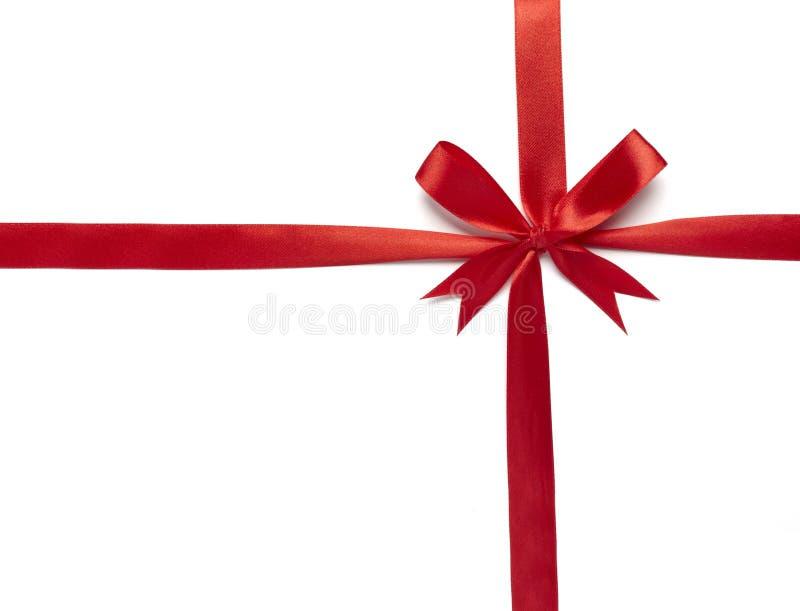 红色丝带包裹 免版税库存照片