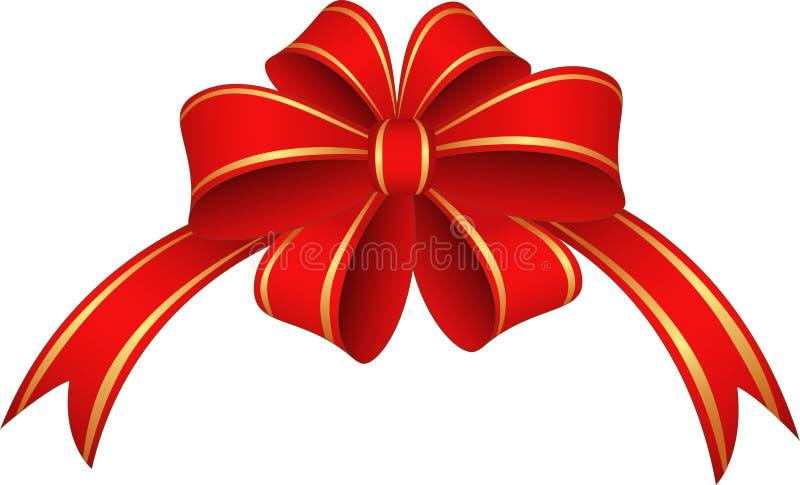 红色丝带和弓 库存图片