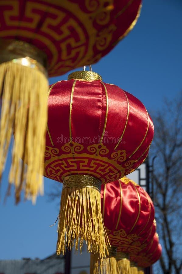 红色中国灯笼 免版税库存照片