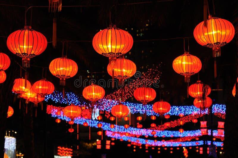 红色中国的灯笼 图库摄影