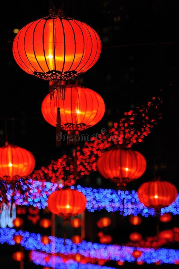 红色中国的灯笼 免版税库存图片