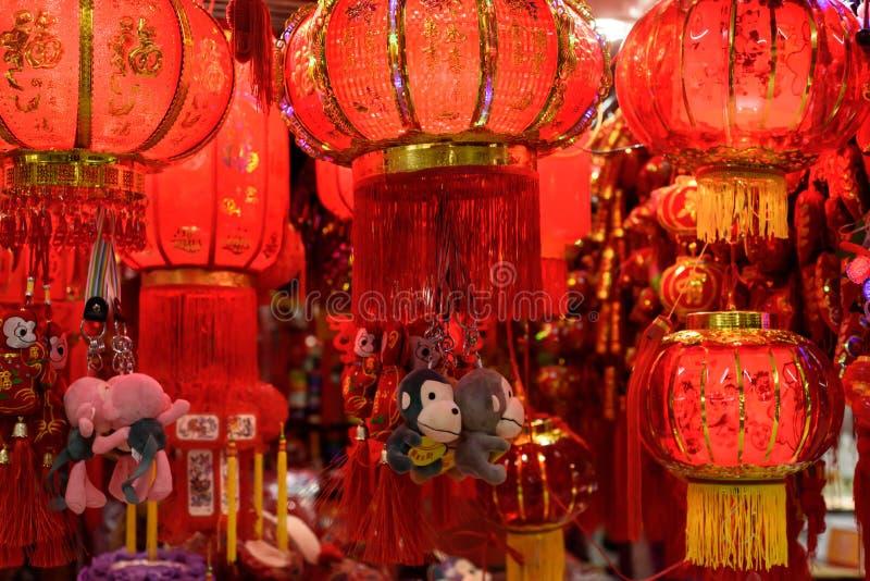 红色中国的灯笼 免版税库存照片