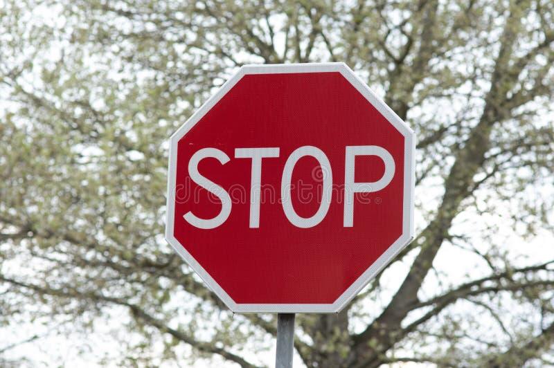 红色中止交通标志 库存图片