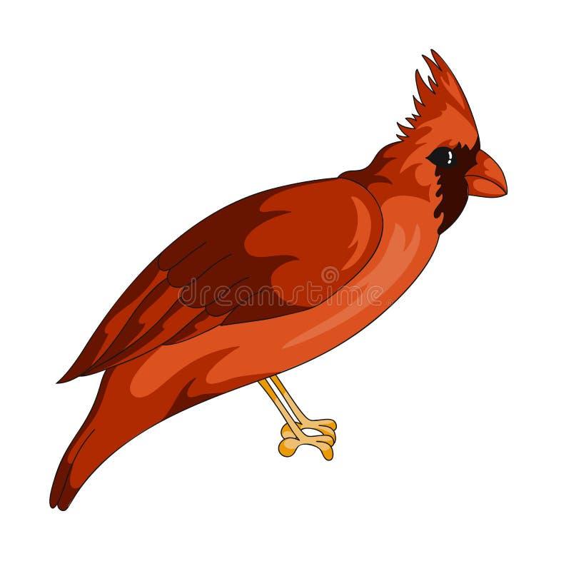 红色主要异乎寻常的鸟象 皇族释放例证
