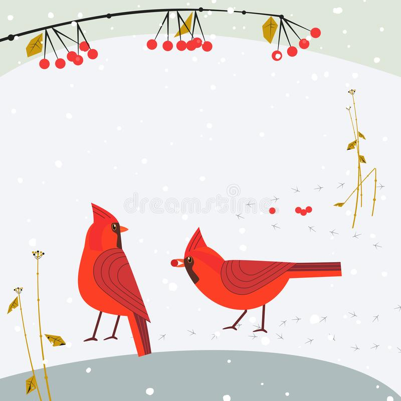 红色主要鸟集合 皇族释放例证