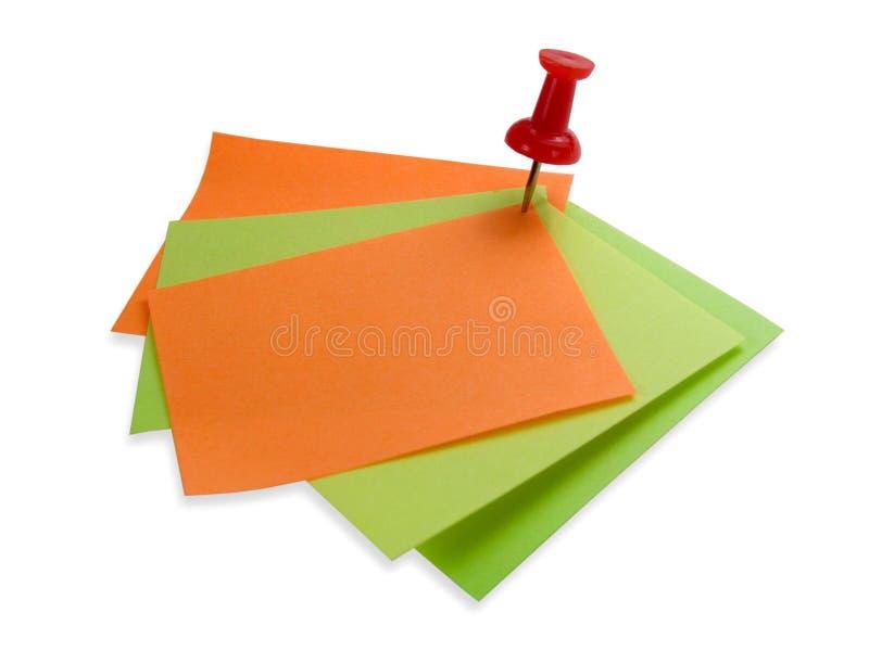红色五颜六色的便条纸 免版税图库摄影