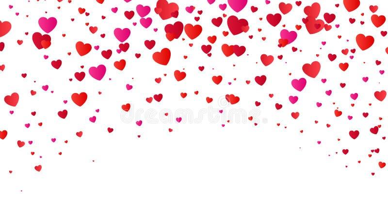 红色五颜六色的心脏半音情人节背景 重点红色白色 也corel凹道例证向量 库存例证
