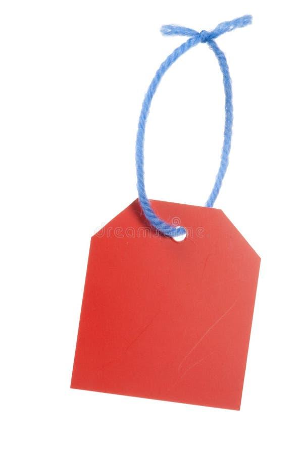 红色价牌 免版税库存图片