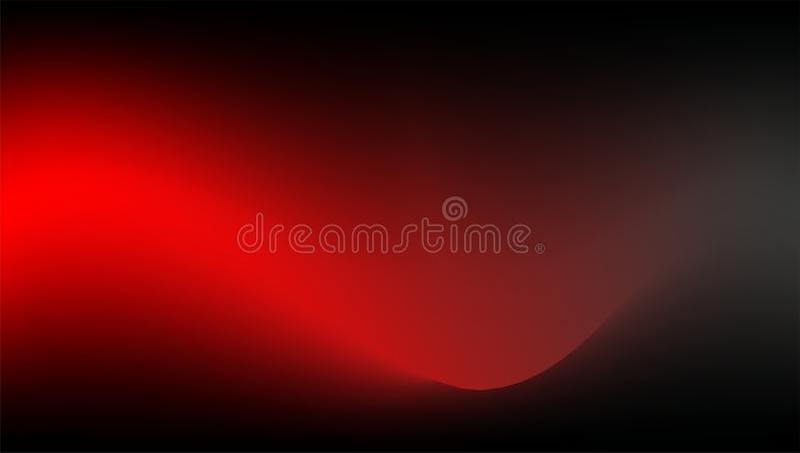 红色传染媒介,在黑暗的基地的波浪抽象背景 皇族释放例证