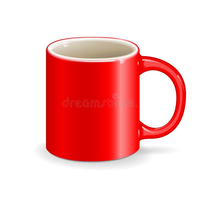 红色传染媒介杯子 向量例证