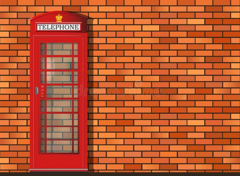 红色伦敦电话亭 库存例证
