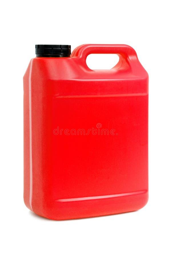 红色便壶罐头 免版税库存图片