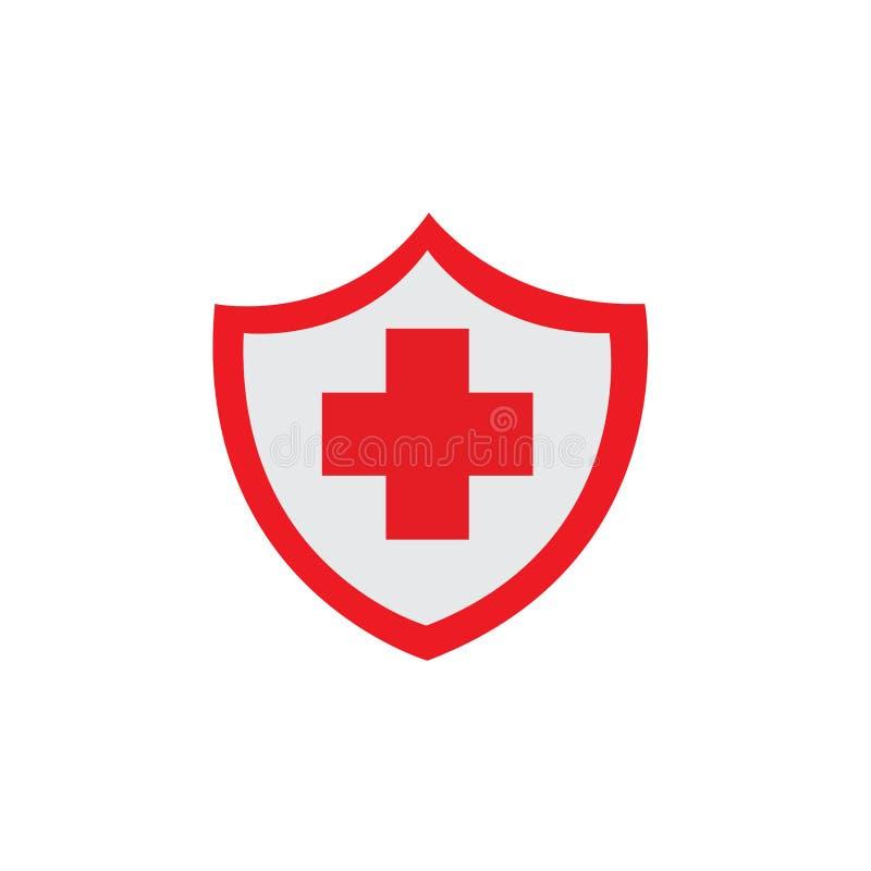 红色保健罩图标 免版税库存图片