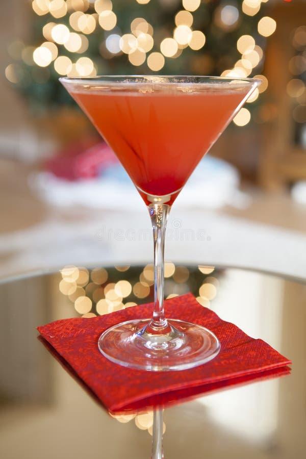 红色假日马蒂尼鸡尾酒鸡尾酒 库存图片