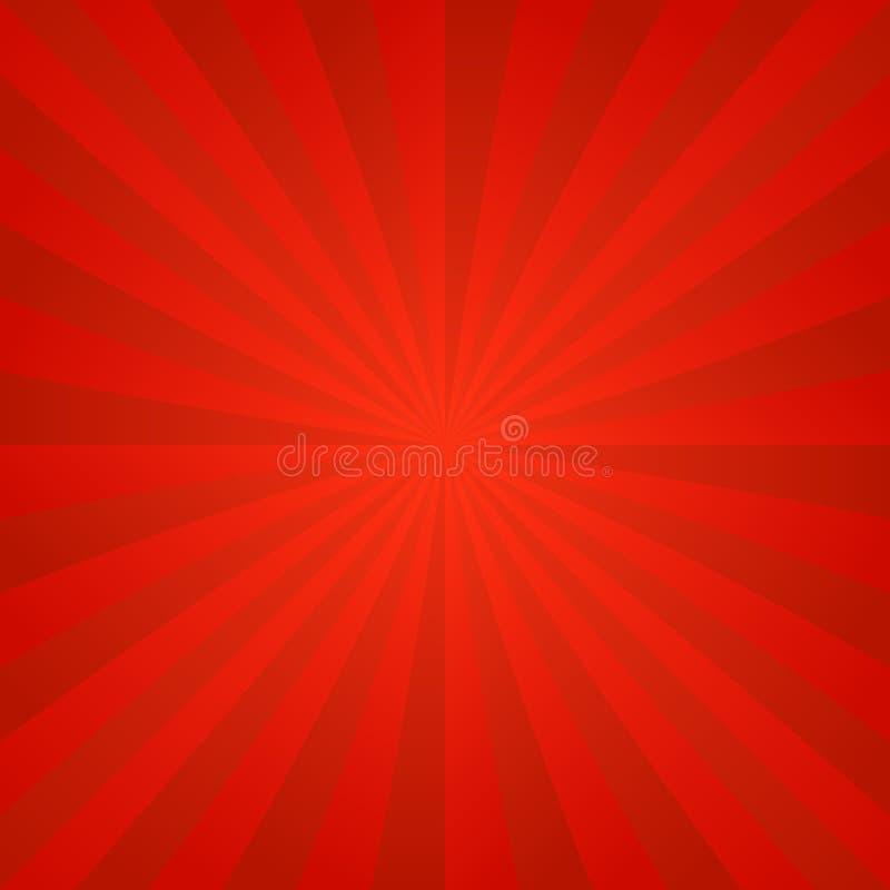 红色光芒爆炸背景 库存例证