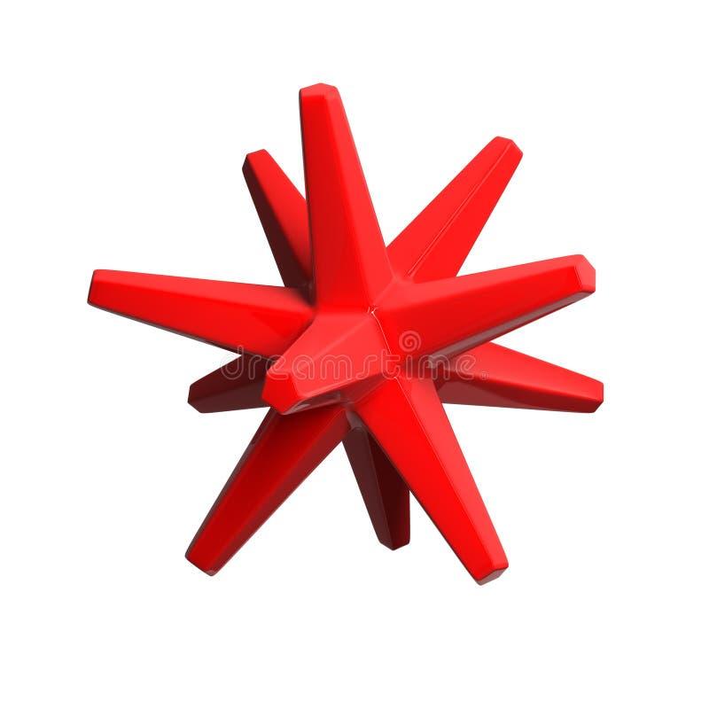 红色光滑的对象 库存照片