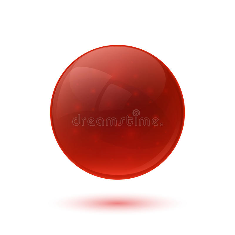 红色光滑的玻璃球形 皇族释放例证