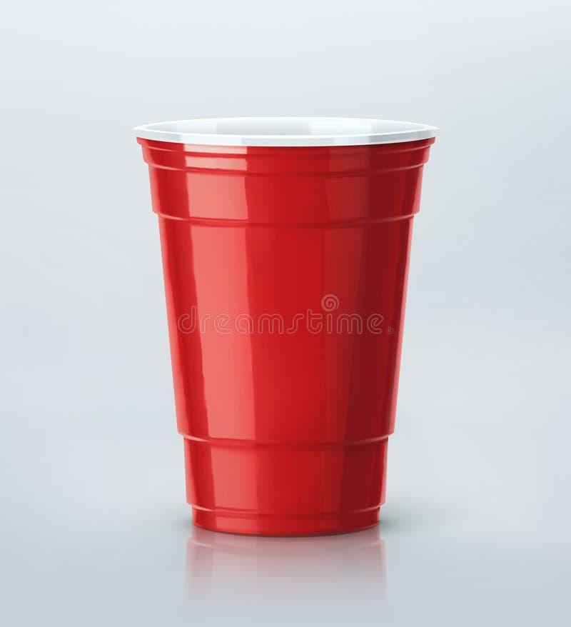 红色党杯 库存例证
