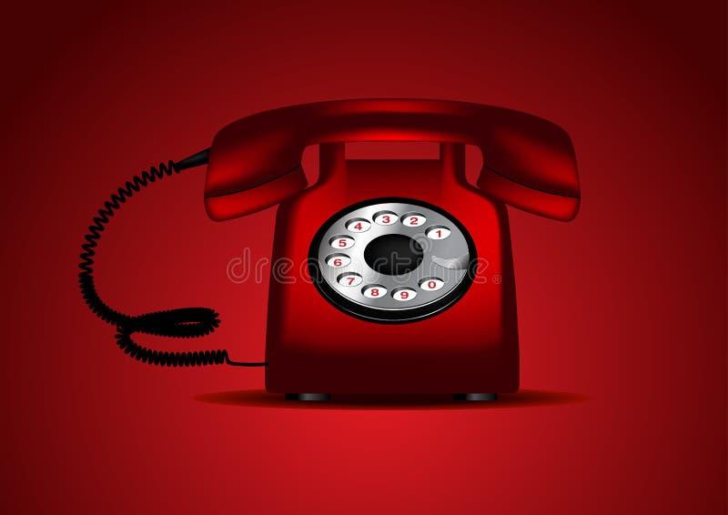红色减速火箭的电话 库存例证