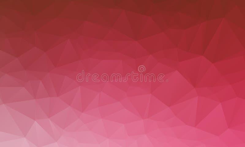 红色几何弄皱的三角低多origami样式梯度例证图表背景 向量例证