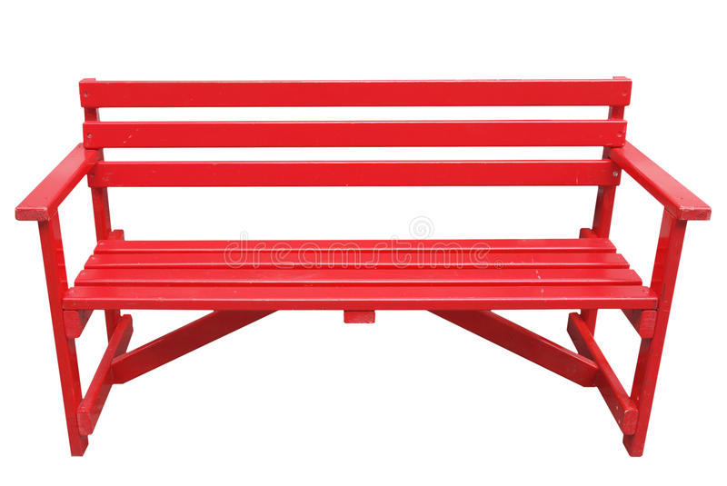 红色前座统排椅被隔绝在白色 图库摄影