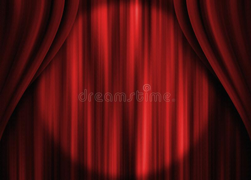 红色剧院帷幕 免版税库存照片