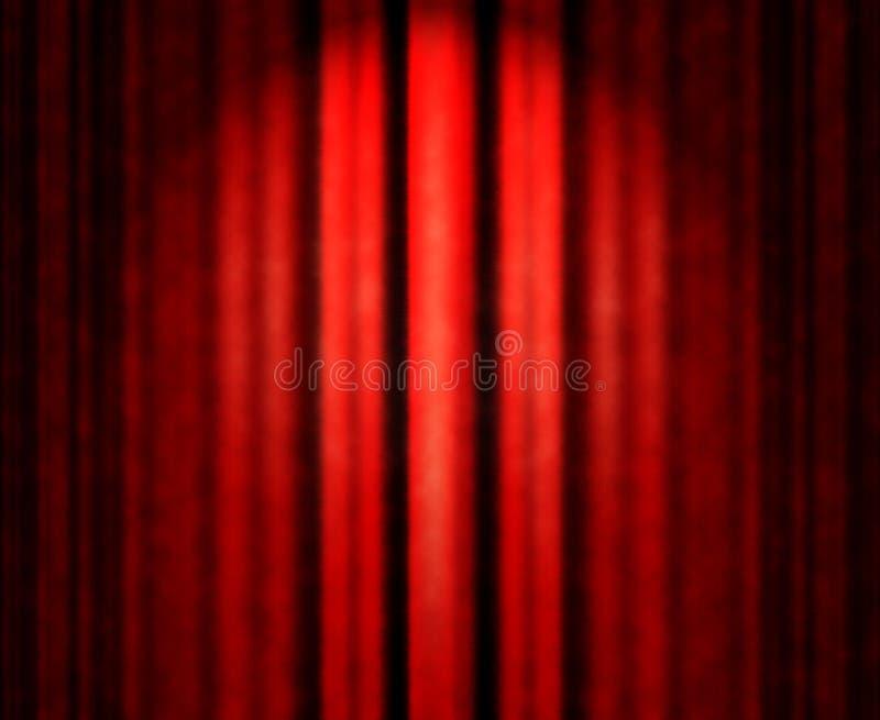 红色剧院窗帘 免版税库存照片