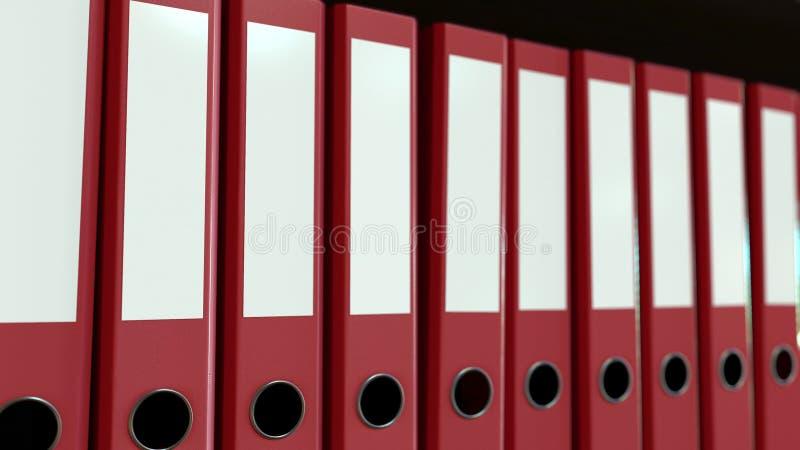 红色办公室黏合剂线  3d翻译 库存例证