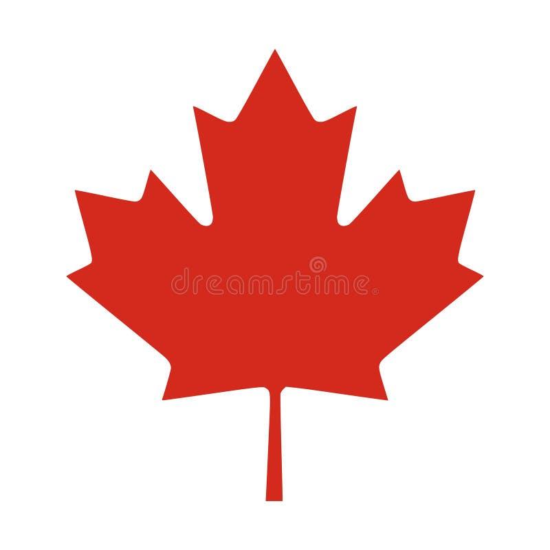 红色加拿大叶子 皇族释放例证