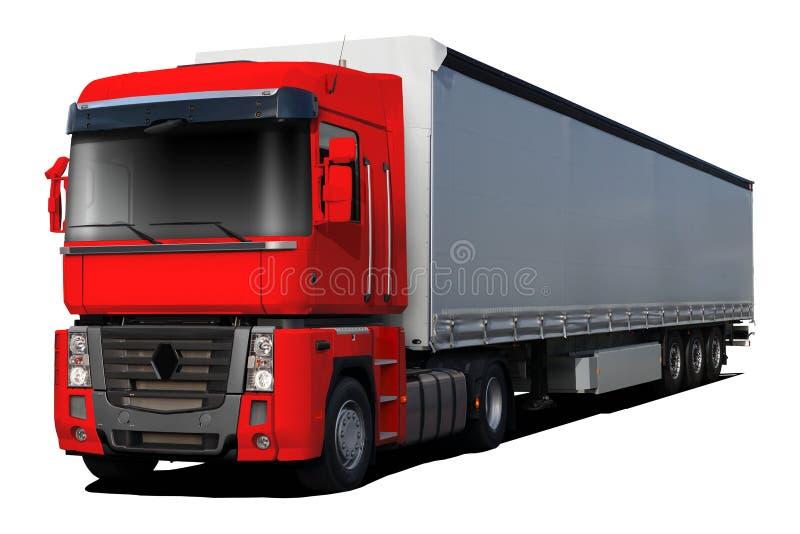 红色卡车雷诺大酒瓶 向量例证