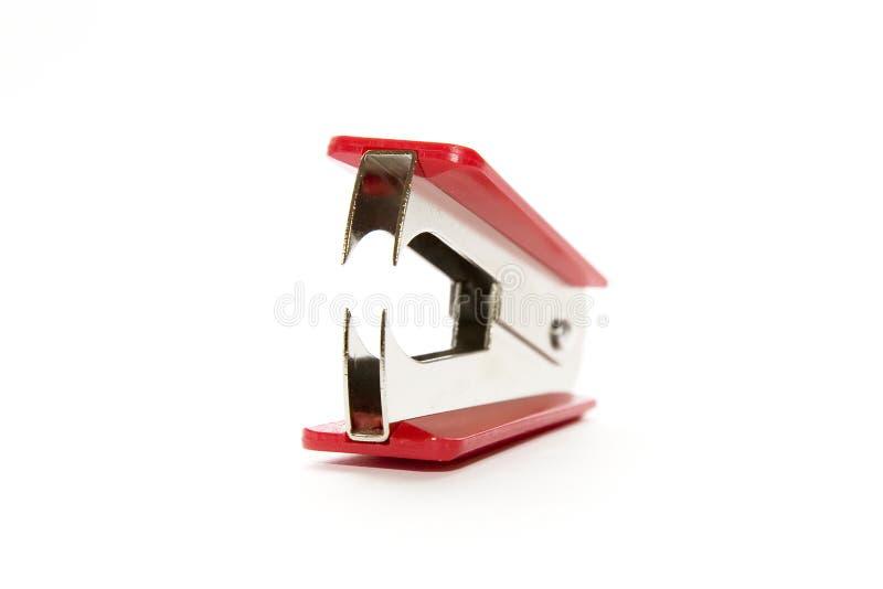 红色去膜剂钉书针 库存照片