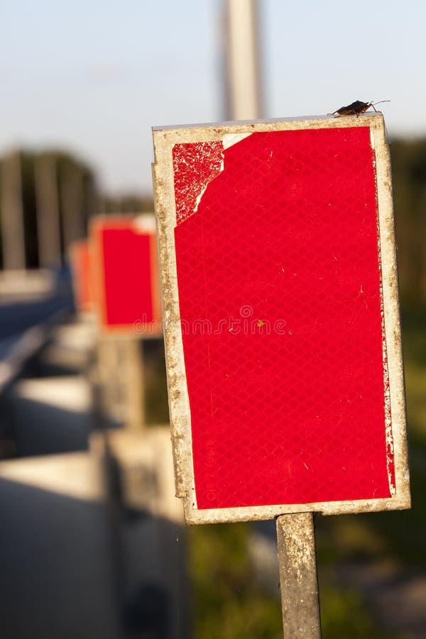 红色反射器 库存照片