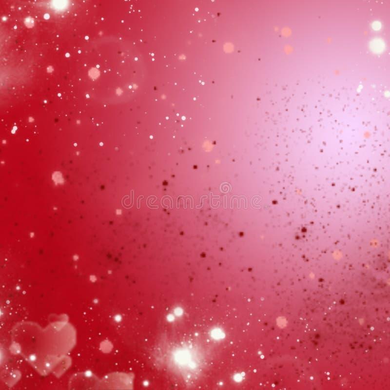 红色和桃红色轻的假日背景 免版税库存照片