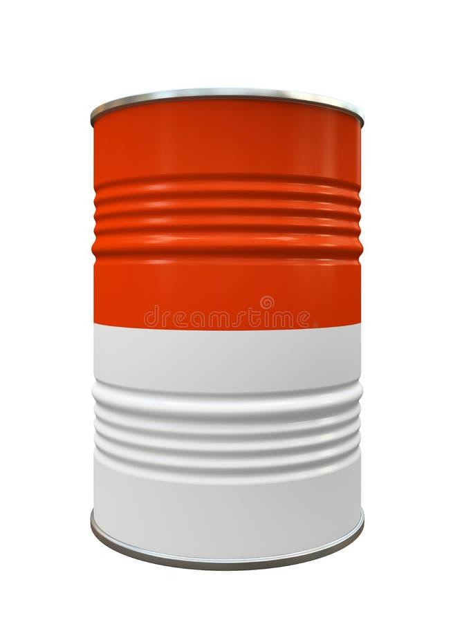 红色和白合金桶 皇族释放例证