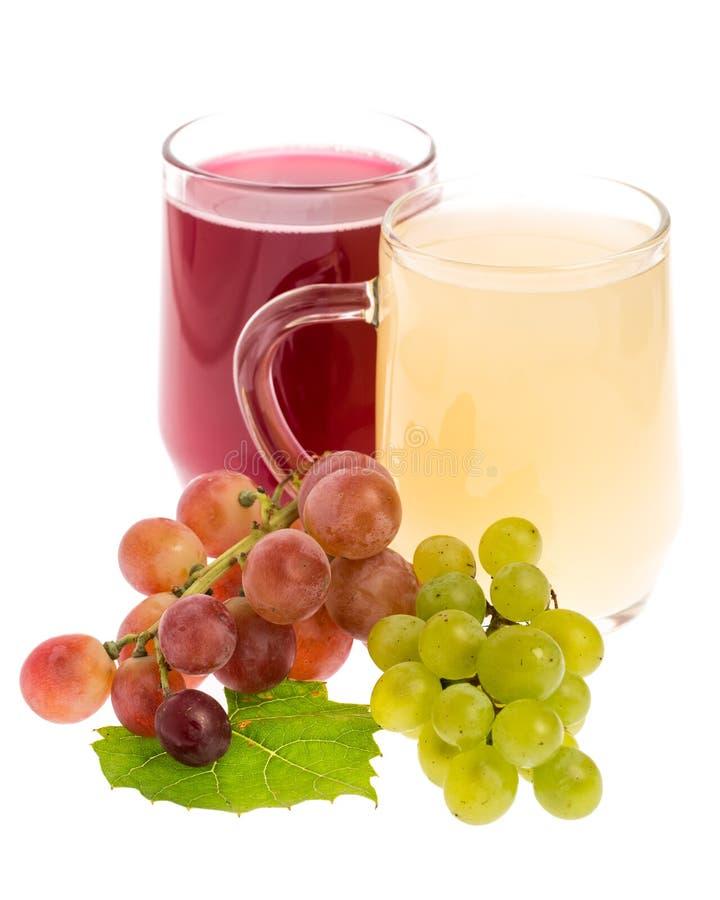 红色和白斯图姆用在白色背景的葡萄 库存图片