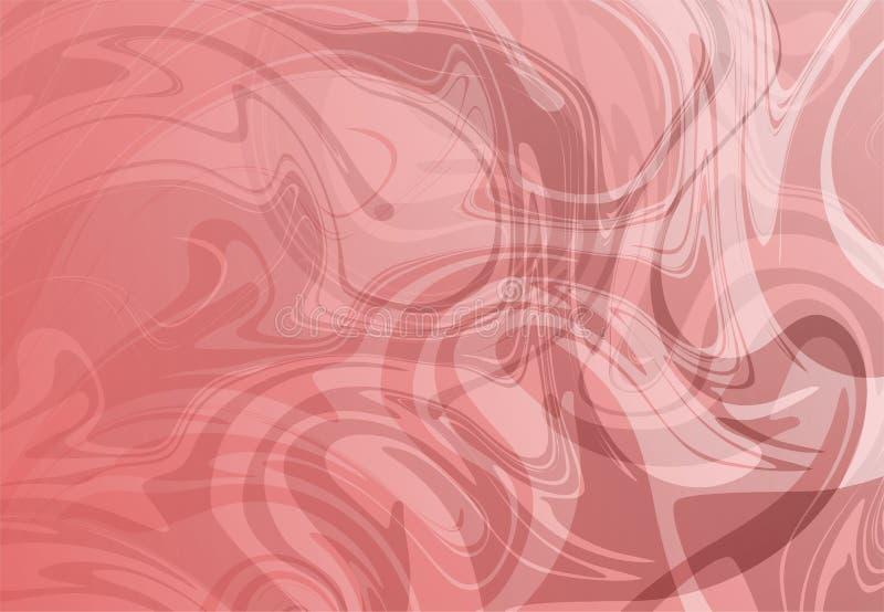 红色和白色抽象衬里流洒了3个d传染媒介背景墙纸 向量例证